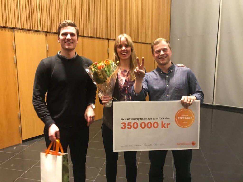 Swedbank rivstart contribution, Niklas, Felicia and Joel